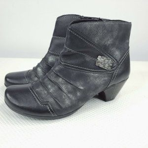 Remonte Ankle Boots Black Leather Booties 38  7 US